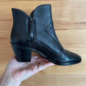 Rebecca Minkoff ankle booties black leather